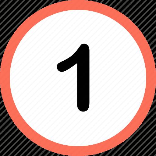 menu, navigation, number, one, option icon