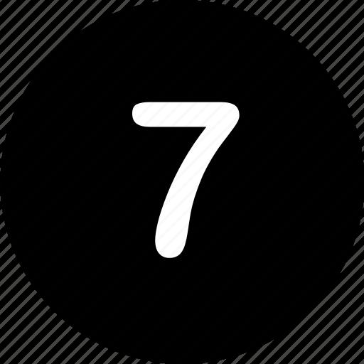 Menu, navigation, number, seven, 7 icon - Download on Iconfinder