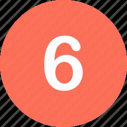menu, navigation, number, six icon