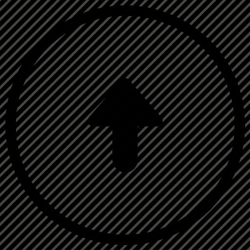 arrow, navigation, top, turn icon