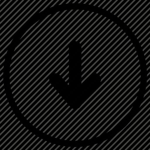 bottom, down, move, navigation icon