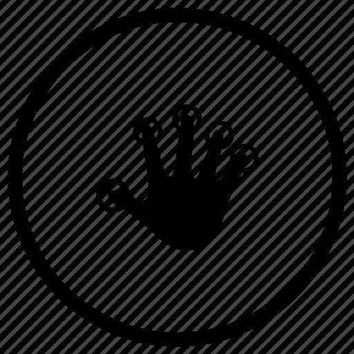 biometry, finger, hand icon