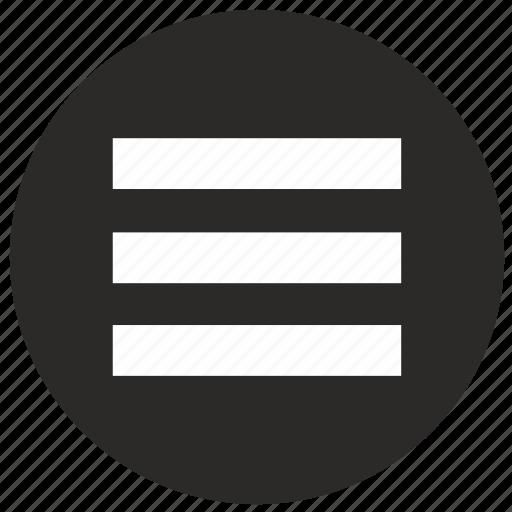 Menu, mobile, round icon - Download on Iconfinder