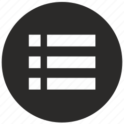 form, items, list, mobile, round icon