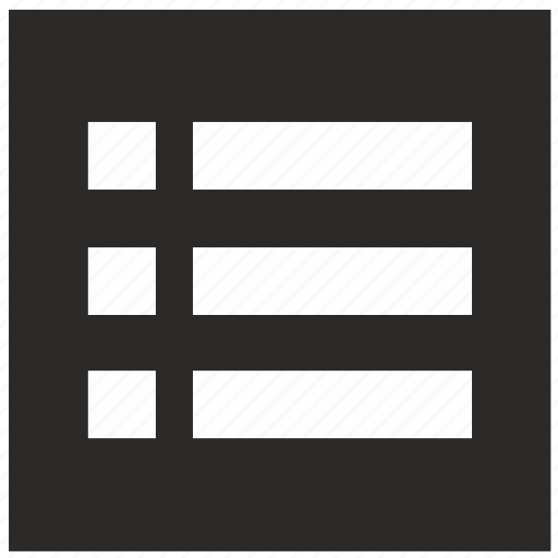 form, items, list, mobile, square icon