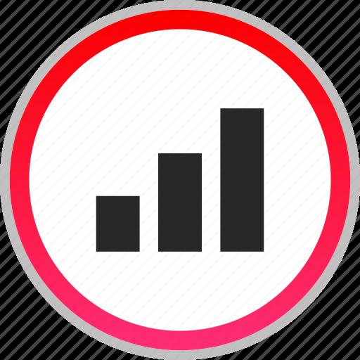 analytics, bars, data, graph, report, seo icon
