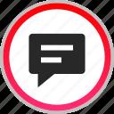 bubble, chat, conversation, talk icon