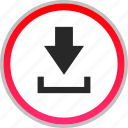 arrow, down, download, point icon