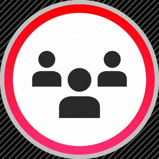 staff, students, teacher, three icon