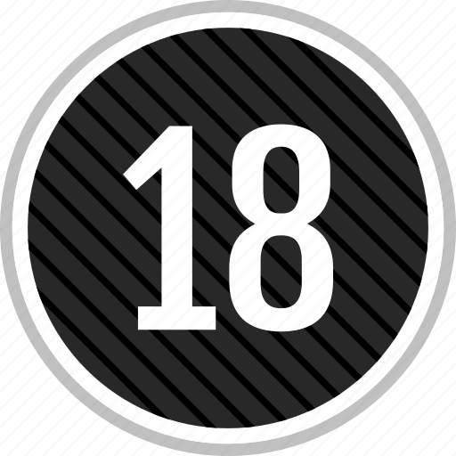 count, eighteen, number icon