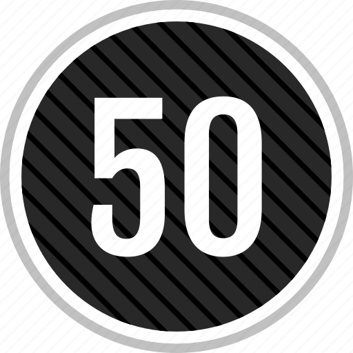 count, fifty, number icon