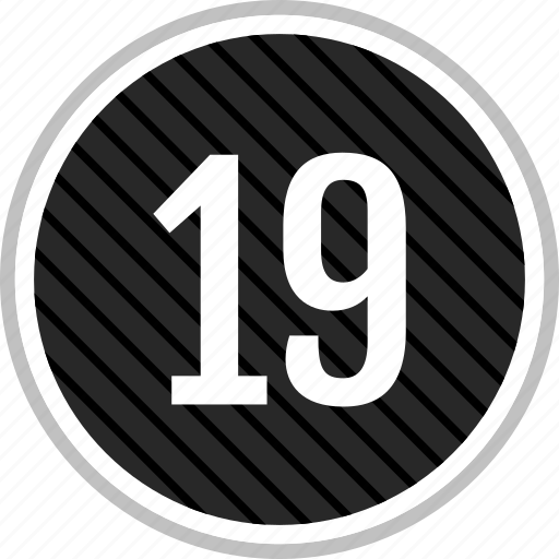 count, nineteen, number icon