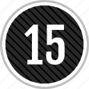 count, fifteen, number icon