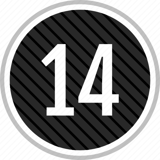 count, fourteen, number icon