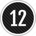 count, number, twelve icon