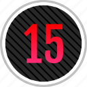 count, fifteen, number, numeric icon