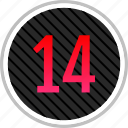 count, fourteen, number, numeric icon
