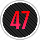 count, fourty, number, numeric, seven icon