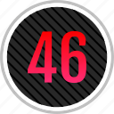 count, fourty, number, numeric, six icon