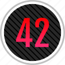 count, fourty, number, numeric, two icon