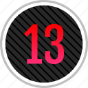 count, number, numeric, thirteen icon