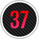 count, number, numeric, seven, thirty icon