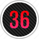 count, number, numeric, six, thirty icon