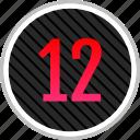 count, number, numeric, twelve icon