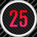 count, five, number, numeric, twenty icon