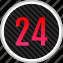 count, four, number, numeric, twenty icon