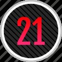 count, number, numeric, one, twenty icon