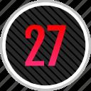 count, number, numeric, seven, twenty icon