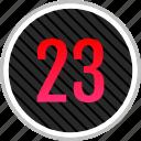 count, number, numeric, three, twenty icon