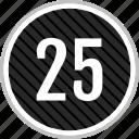 count, five, number, twenty icon