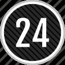 count, four, number, twenty icon