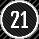 count, number, one, twenty icon
