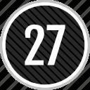 count, number, seven, twenty icon