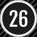 count, number, six, twenty icon