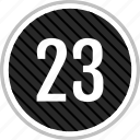 count, number, three, twenty icon