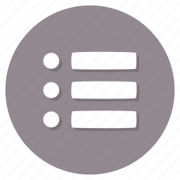 bullet, checklist, list icon