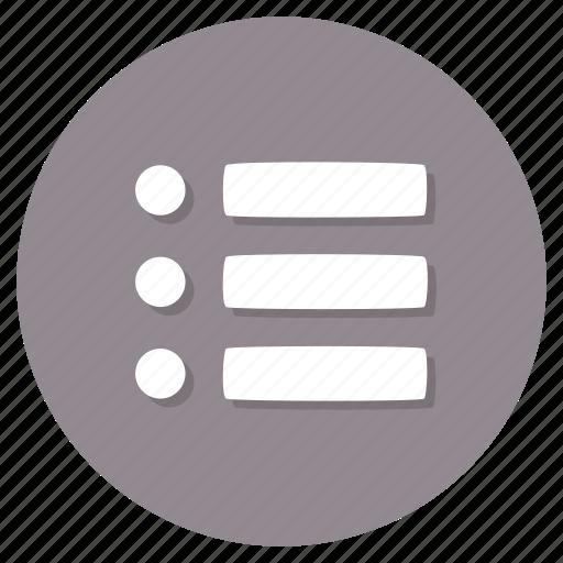 bullet, checklist, list icon