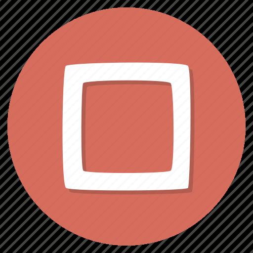 checkbox, unchecked icon