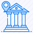bank address, bank building, bank location, financial institution, treasury house