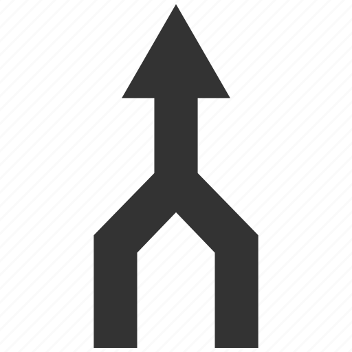 aggregate, connect, connection, join, merge arrow, put together, up direction icon