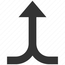 connect, connection, converge, immix, merge arrow, put together, up direction icon