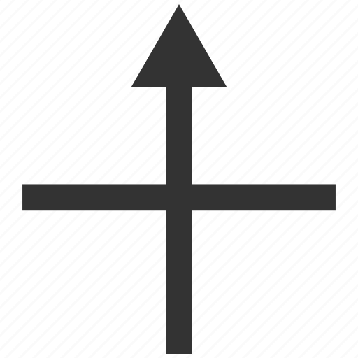 connect, connection, cross, integrate, intersection, merge arrow, up direction icon