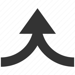 compound, confederate, integrate, join, merge arrow, unite, up direction icon