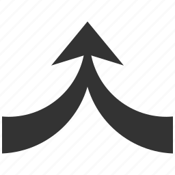 combine, connect, connection, integrate, merge arrow, together, up direction icon