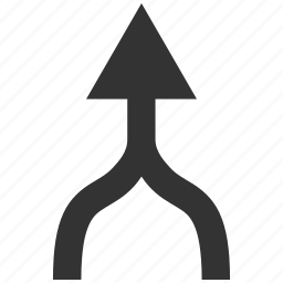 combine, connect, connection, integrate, join, unite arrow, up direction icon