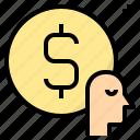 business, buyer, customer, economist, finance icon
